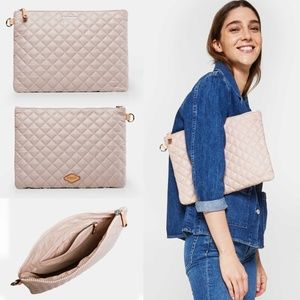 MZ WALLACE Metro Pouch Rose Gold Metal